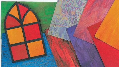 Paper Glass Craft - stained glass frames and craft paper