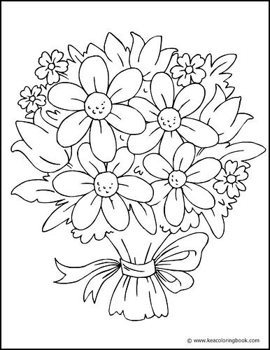 Bouquet Of Flowers Coloring Page This Pretty Coloring Flower Bouquet Coloring Pages