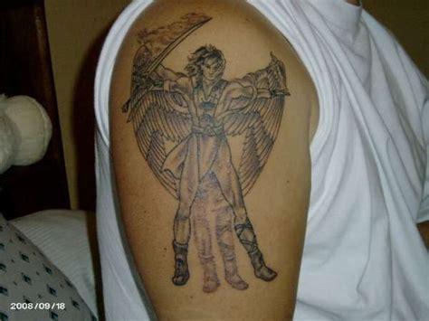 Angel Uriel Tattoo   archangel uriel tattoo death tattoo designs pinterest