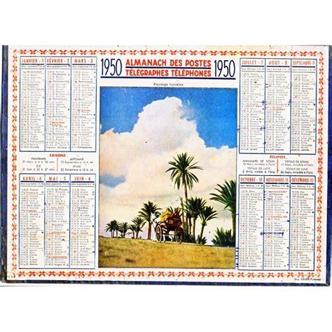 Calendrier De 1950 Calendrier Almanach Des Postes Telegraphes Telephones 1950