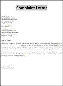 how to write a formal letter of complaint example cover