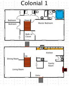 Colonial Style Floor Plans by Colonial House Style A Free Macdraft Floor Plan For The