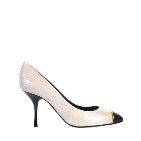 giuseppe zanotti white patent leather court shoes in white