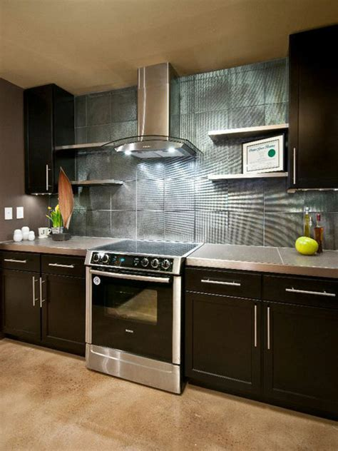 contemporary backsplash do it yourself diy kitchen backsplash ideas hgtv