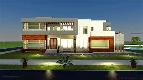 500 Sq Meters | 3d front elevation com 500 square meter modern