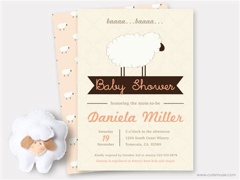 Sheep Baby Shower Invitations by Baby Shower Invitations Printable Sheep