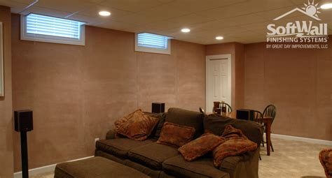 alternative to drywall in basement basement solutions photos softwall patio enclosures