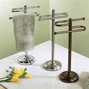 bathroom free standing towel racks