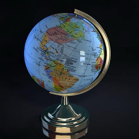 globe maps 3d globe model with map 3d model free 3d models