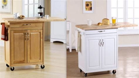 mainstays kitchen island cart w drop leaf panel and