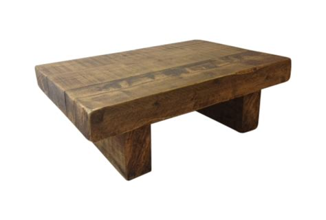The 4ft X 2ft Chunky Rustic Coffee Table Ely Rustic