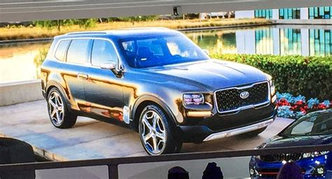 Kia Telluride For Sale by Kia Telluride Concept New Luxury Suv Gets Early Look