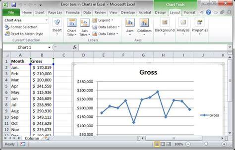 excel layout error bars error bars in charts in excel teachexcel com