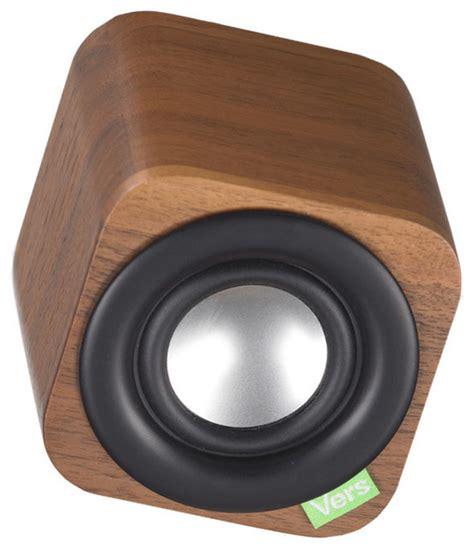 modern speaker 1q bluetooth speaker walnut modern home electronics