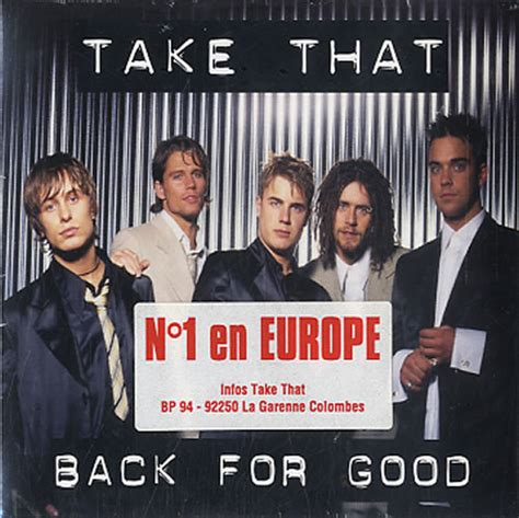 back for good take that back for good french cd single cd5 5 quot 45075
