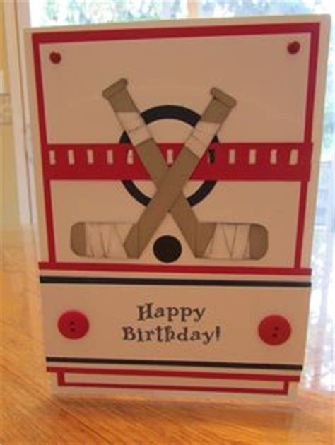 printable birthday cards hockey theme sports themed card and tags on pinterest golf cards
