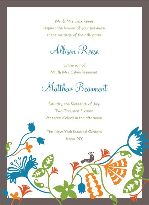 free invitation card templates for word home invitation template best template collection