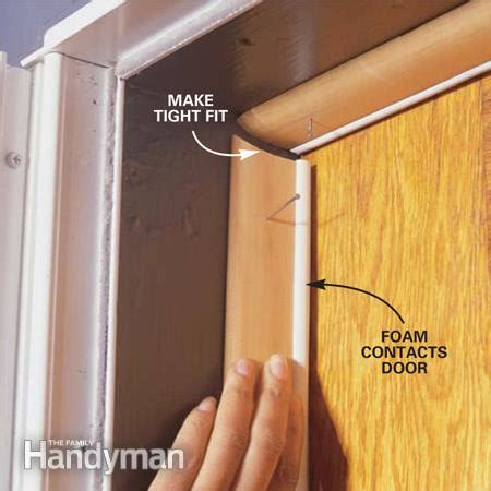 How To Install Weather Stripping On Front Door How To Weatherstrip A Door The Family Handyman