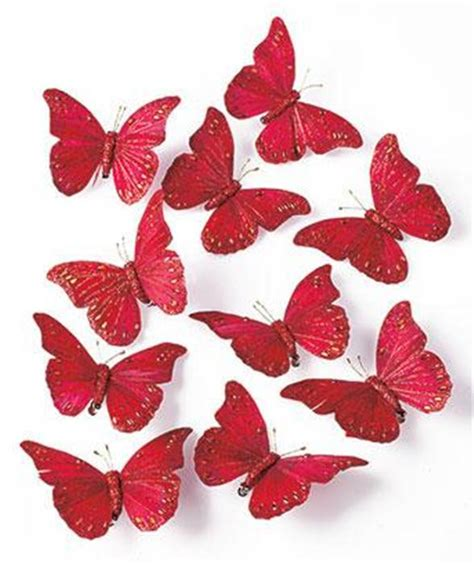 christmas holiday tree wreath butterfly clip ornaments in