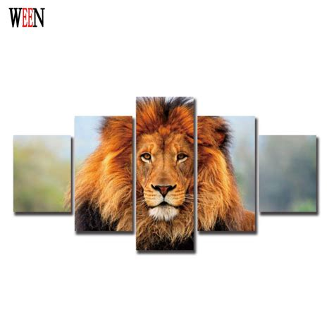 lion king home decor lion king 4pcs modern animal wall christmas canvas