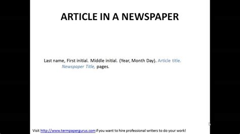 cite  article   newspaper   format youtube