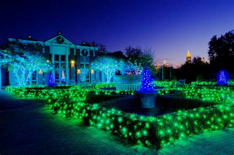 Botanical Garden Atlanta Lights Atlanta Botanical Garden Shines Green This Winter With New Sparkling Attractions The