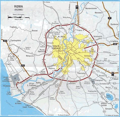 rome italy map maps of rome
