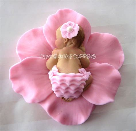 baby shower birthday fondant baby flower by