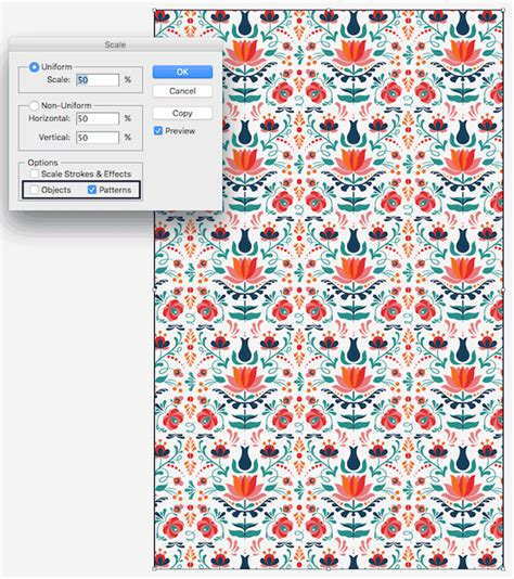 illustrator pattern has gaps how to design a colorful hungarian folk art pattern in