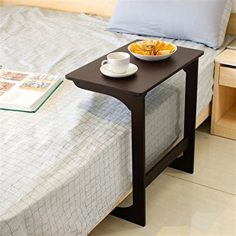 homfa bamboo snack table sofa couch coffee  table bed