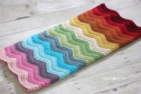 crochet pattern ripple baby blanket rainbow ripple crochet blanket repeat crafter me