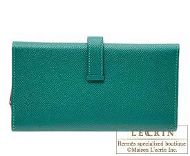 H Bearn Malachite lecrin boutique tokyo rakuten global market hermes bearn tri fold wallet malachite epsom