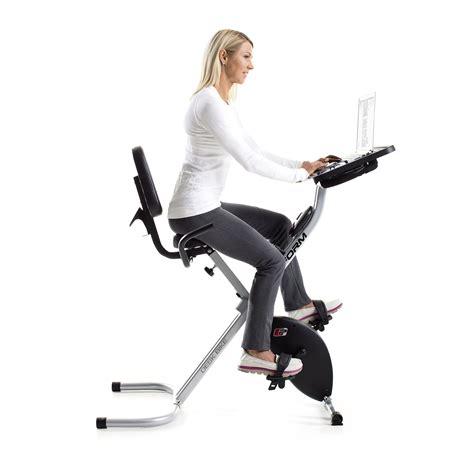 Stationary Bike For Desk by Proform Foldable Portable Stationary Fitness Desk Exercise