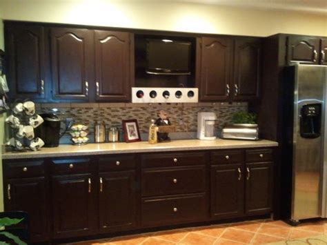 staining kitchen cabinet to refresh your kitchen
