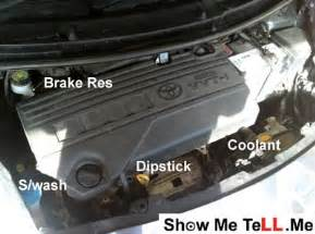 Brake Fluid In Coolant System Toyota Yaris The Bonnet Pass With Parsons