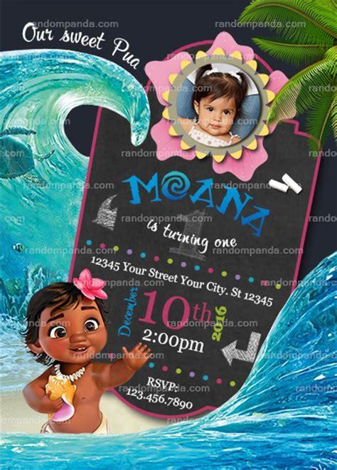 Personalize Baby Moana Invitation Moana Birthday Party Invite Baby Moana Invitation Template Free