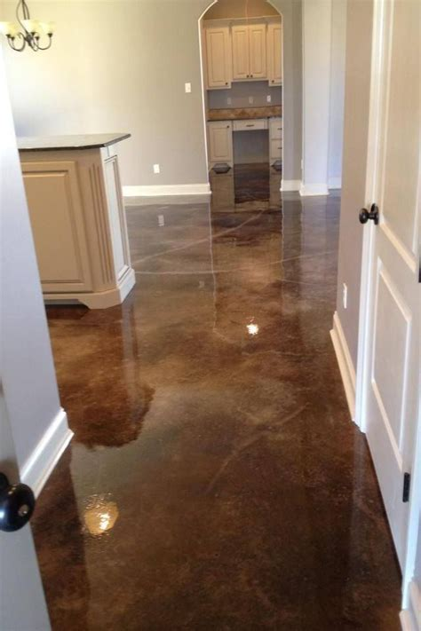 "Stained concrete ""Tortoise shell black"" Very popular color"