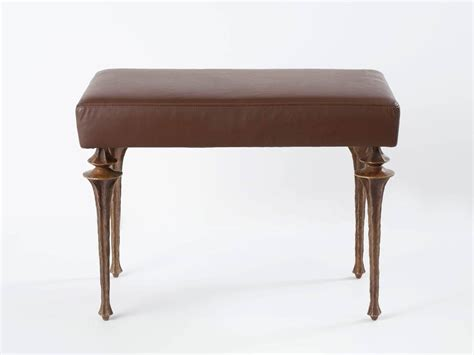 bench marc contemporary stool bench by marc bankowsky in bronze