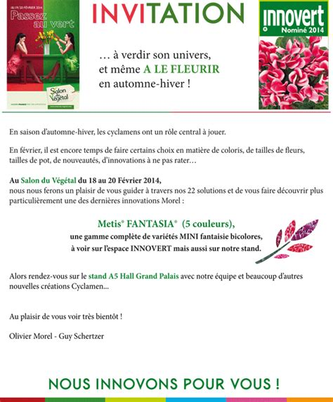 Exemple De Lettre D Invitation Pour Un Sejour Modele Invitation Salon Document