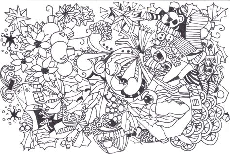 christmas zentangle coloring page free coloring pages of christmas zentangle