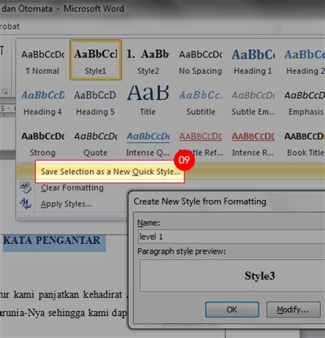 membuat daftar isi otomatis dengan word 2010 berbintang chemistry cara membuat daftar isi otomatis
