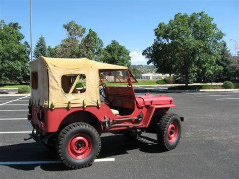 Jeep Parts Colorado Springs 1947 Willys Cj2a Jeep For Sale In Colorado Springs