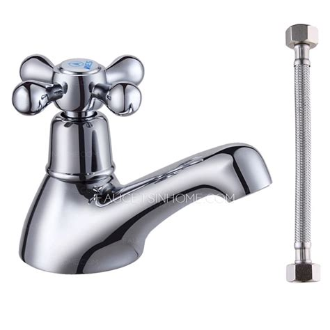 Led Bathroom Faucet small single cross handle cold water bathroom sink faucet