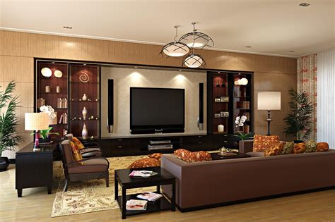 modern home theatre room style designs for living room