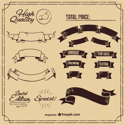 classic design banner classic banners set vector free download