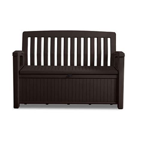 60 storage bench keter 60 gallon all weather outdoor patio storage bench