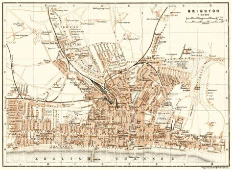printable maps brighton old map of brighton in 1906 buy vintage map replica