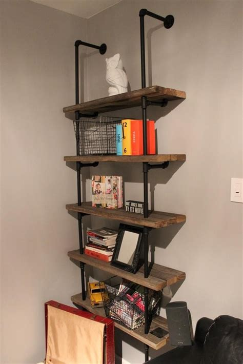 iron pipe bookshelf for bedroom improve design using 2x10