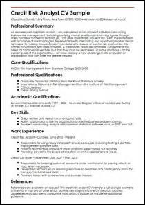 Risk Analyst Sle Resume by Credit Risk Analyst Cv Sle Myperfectcv