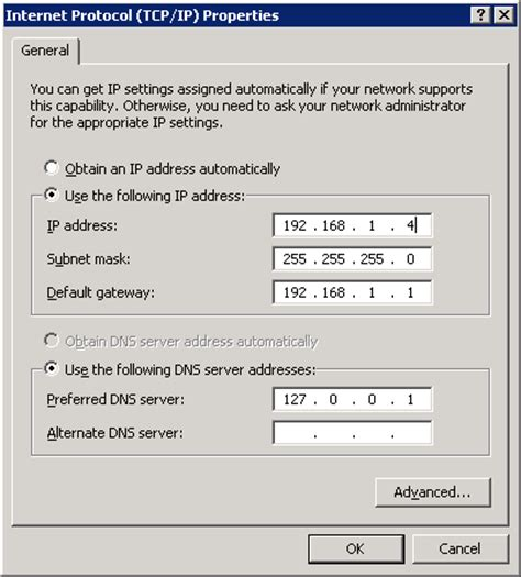 configure xp multiple domains configure dns server settings for domain controllers
